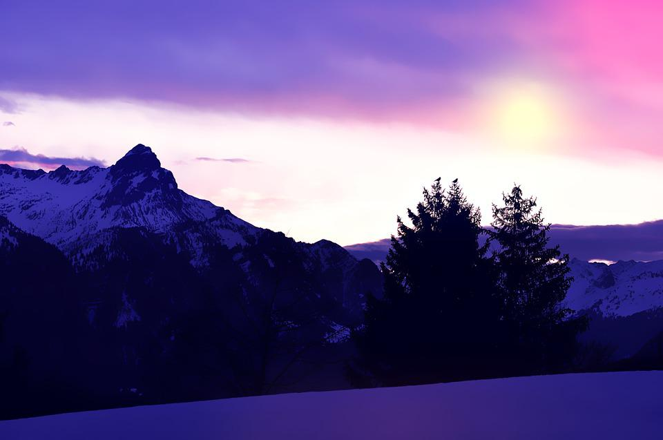 Landscape, Wintry, Snow, Winter, Mountains