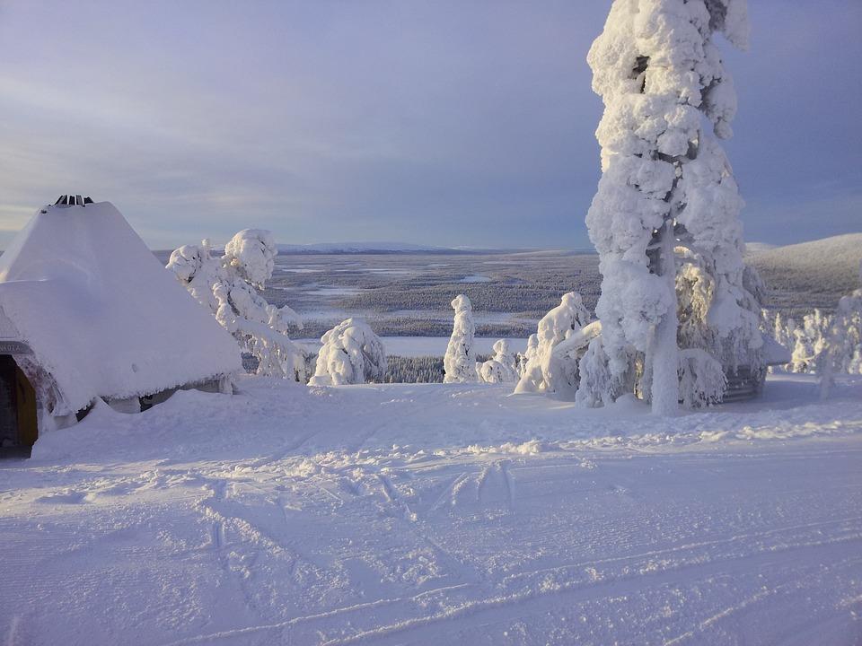 Snow, Skiing, Lapland, Finland