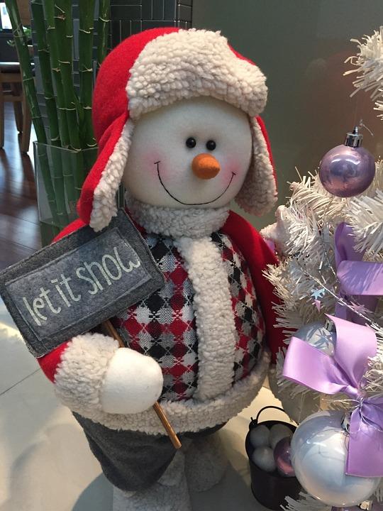 Snow Man, Christmas, Cap, Snowman