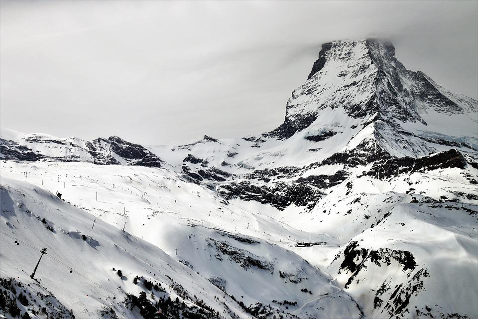 The Alps, Zermatt, Matterhorn, Snow, Mountain, Ice