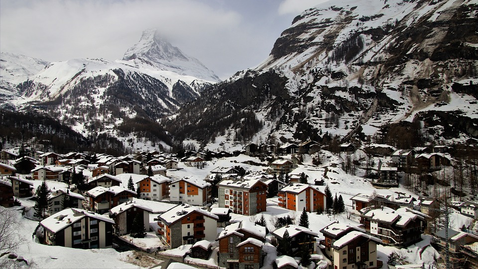 Zermatt, Switzerland, Snow, Winter, Mountain, Nature