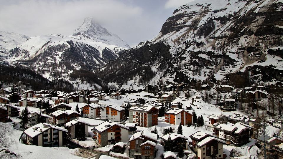 Zermatt, Switzerland, Snow, Winter, Mountain, Nature