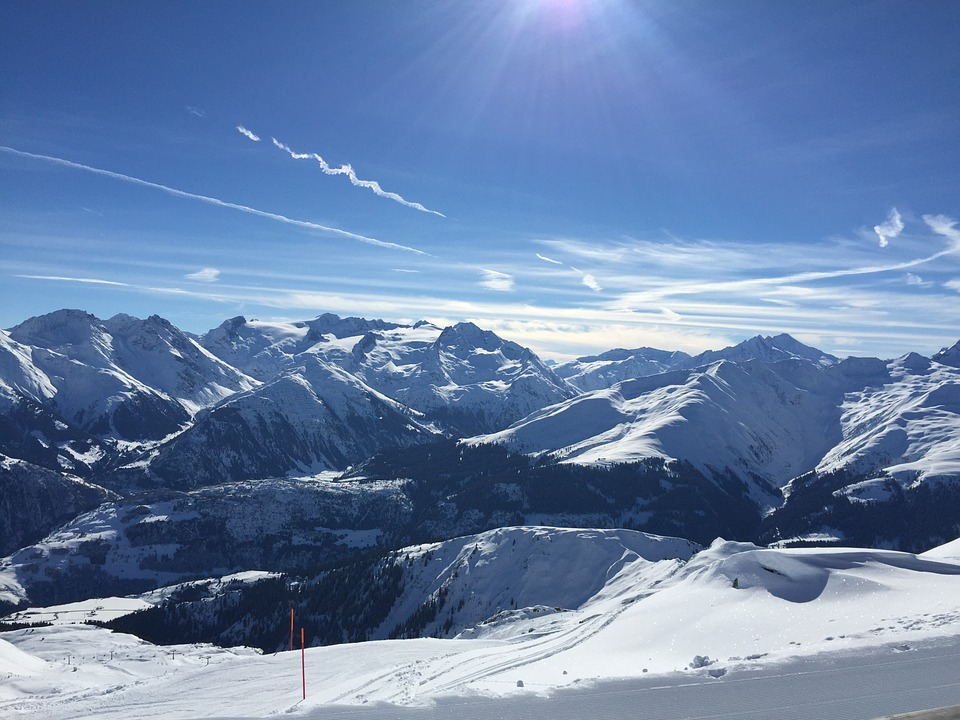 Mountains, Winter, Snow, Ski Run, Landscape, Runway