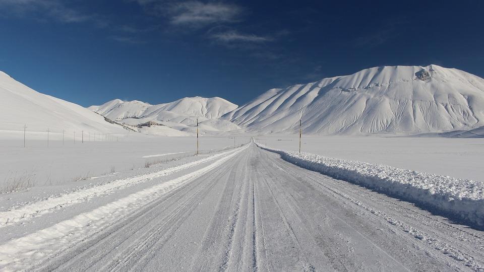 Castelluccio, Mountains, Snow, Norcia