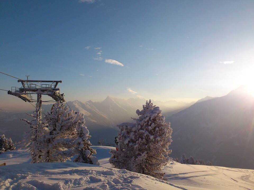 Winter, Winterpanoram, Alpine, Mountains, Sun, Snow
