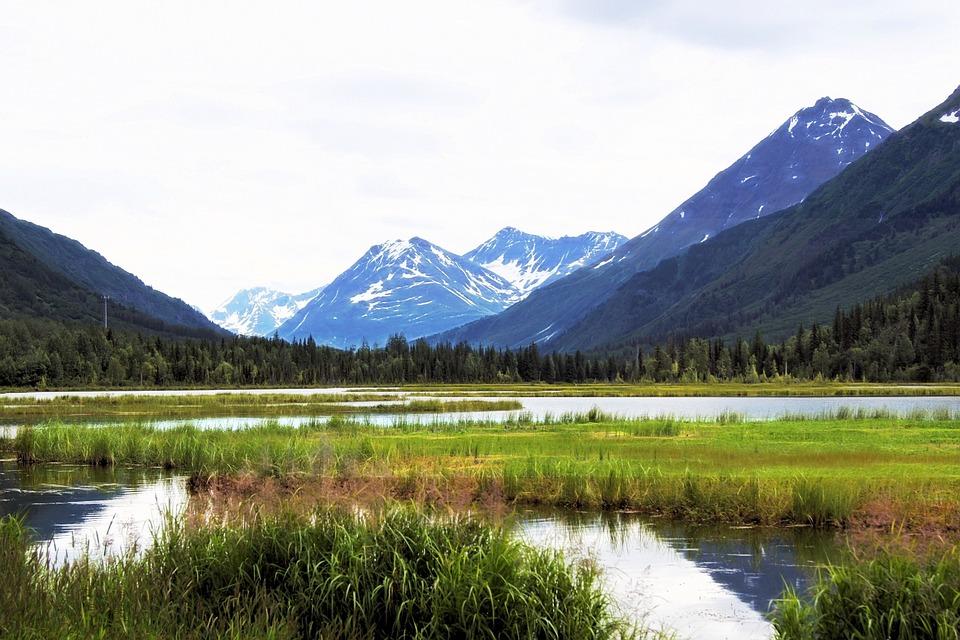 Alaska, Mountain, Landscape, Nature, Sky, Scenic, Snow