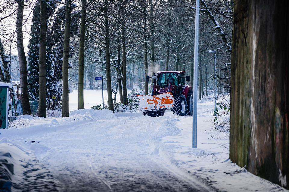 Snow, Road, Snow Plow, Tractor, Ice, Winter, Frost