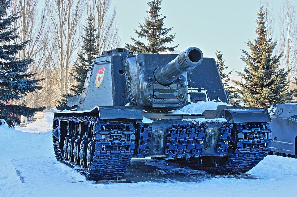 Snow, Winter, Coldly, Vehicle, Racecourse, Tank, Hdr