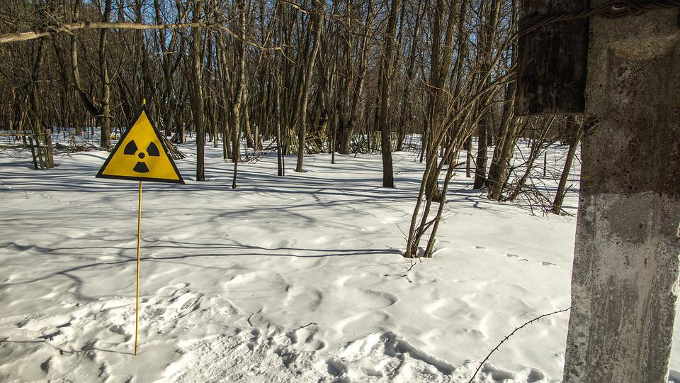 Radioactive, Sign, Radiation, Snow, Exclusion Zone