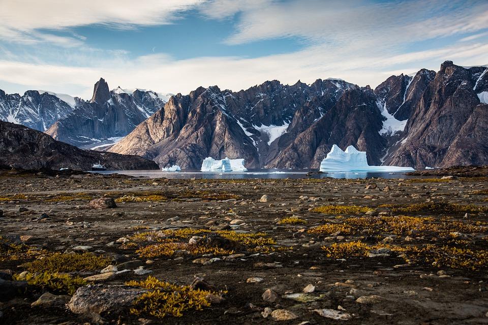 Mountains, Snow, Glacier, Sea, Arctic, Polar, Greenland