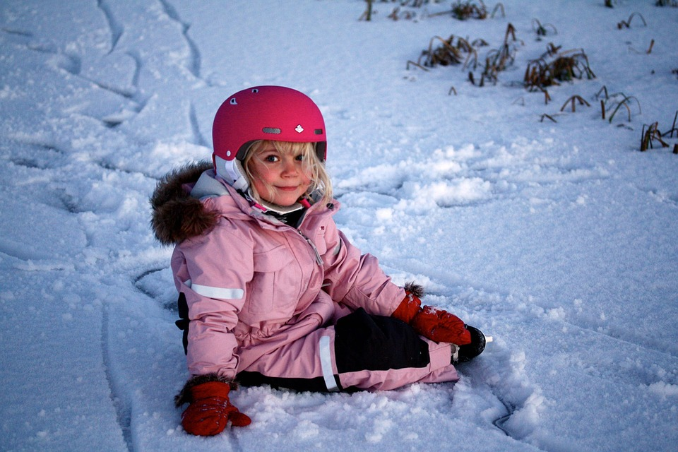 Girl, Winter, Child, Cold, Skating, Snow