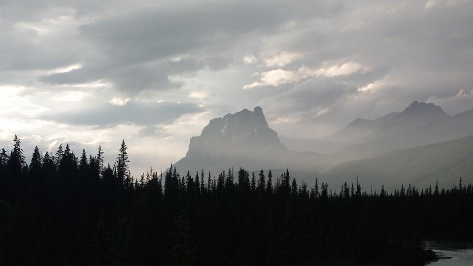 Panoramic, Mountain, Nature, Sky, Snow, Eerie, Fog