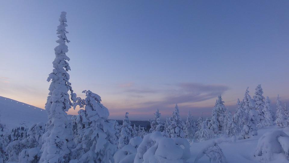 free photo snow snowy winter arctic circle finland lapland max pixel
