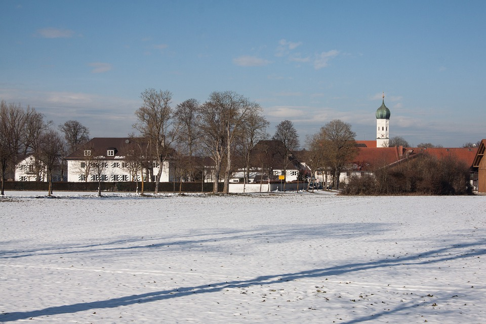 Gut, Manor, St Bhanu In Möschenfeld, Winter, Snow