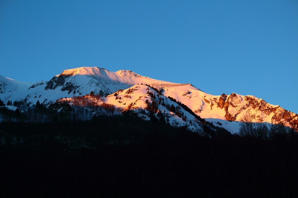 Mountain, Snow, Summit, Peak, Sky, Snow Capped