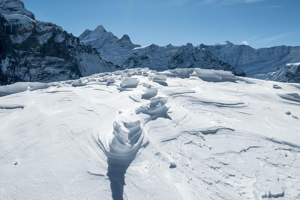 Switzerland, Mountains, Winter, Snow, Grindelwald