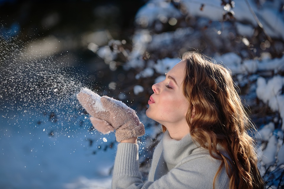 Girl, Snow, Winter, Magic, Frost, Tales, Snowflakes