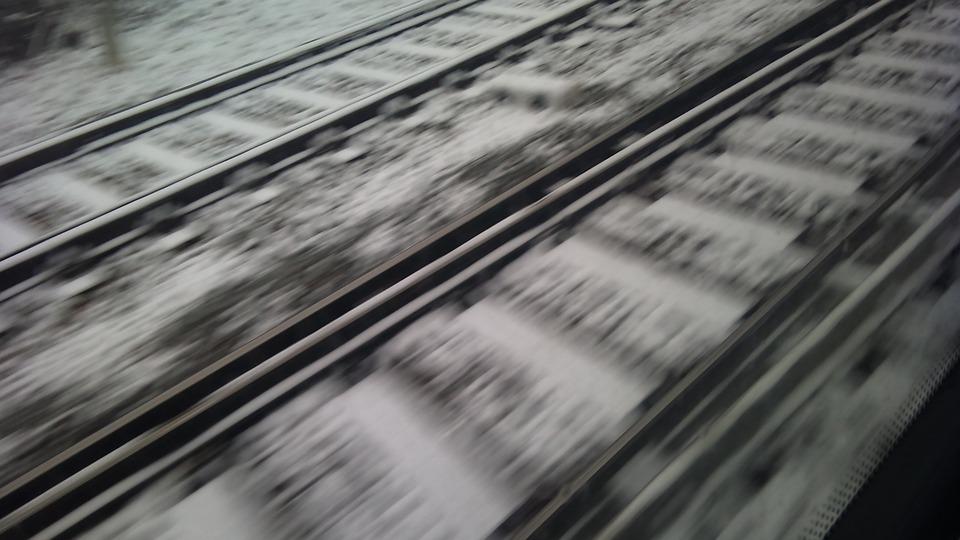 Train, Pathways, Snow, Trains, Path, Train Tracks