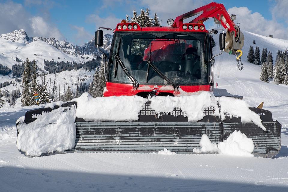 Snow Plow, Snow Tractor, Snow, Snow Trax, Piste Machine
