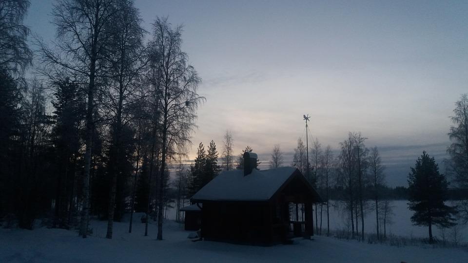 Twilight, January, Snow