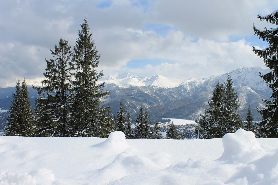 Mountains, Winter, View, Snow, Tatry