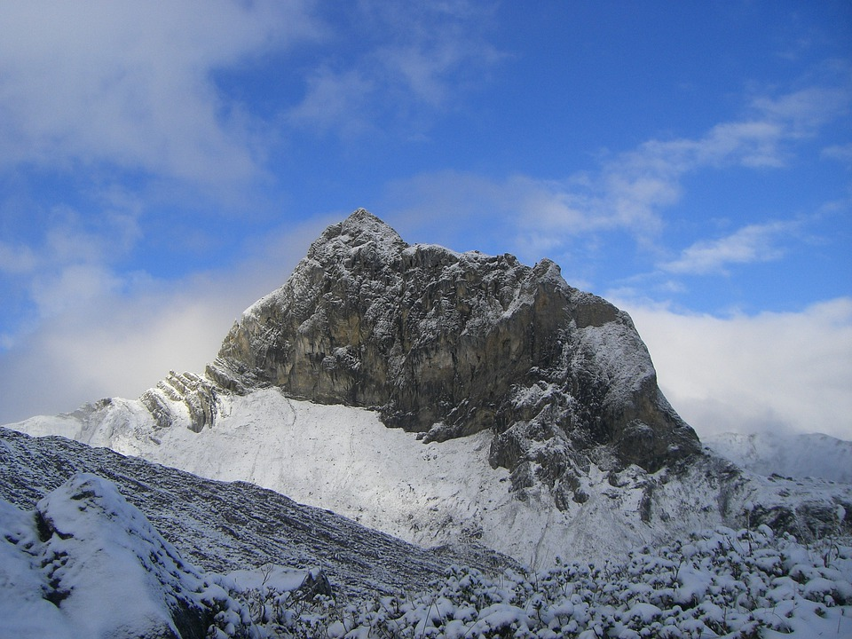 Massif, Walser Trail, Mountains, Snow