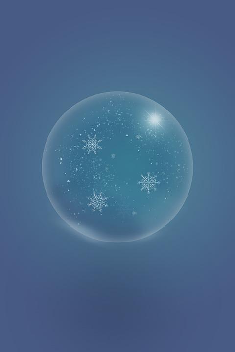 Winter, Snow White, Snow, Snowflakes, Christmas