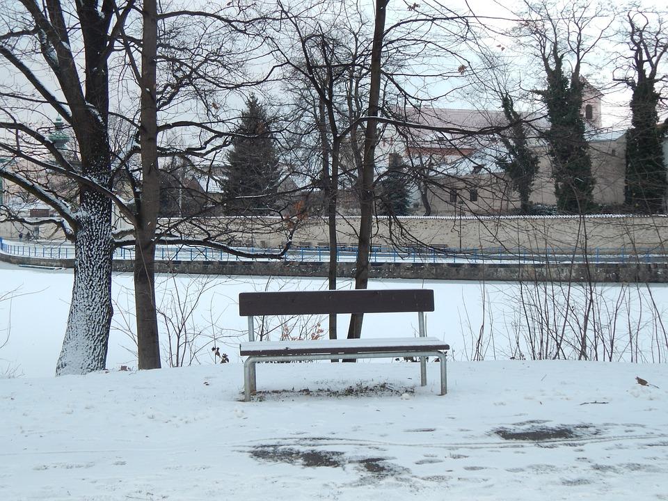 Winter, Solitude, Snow, City