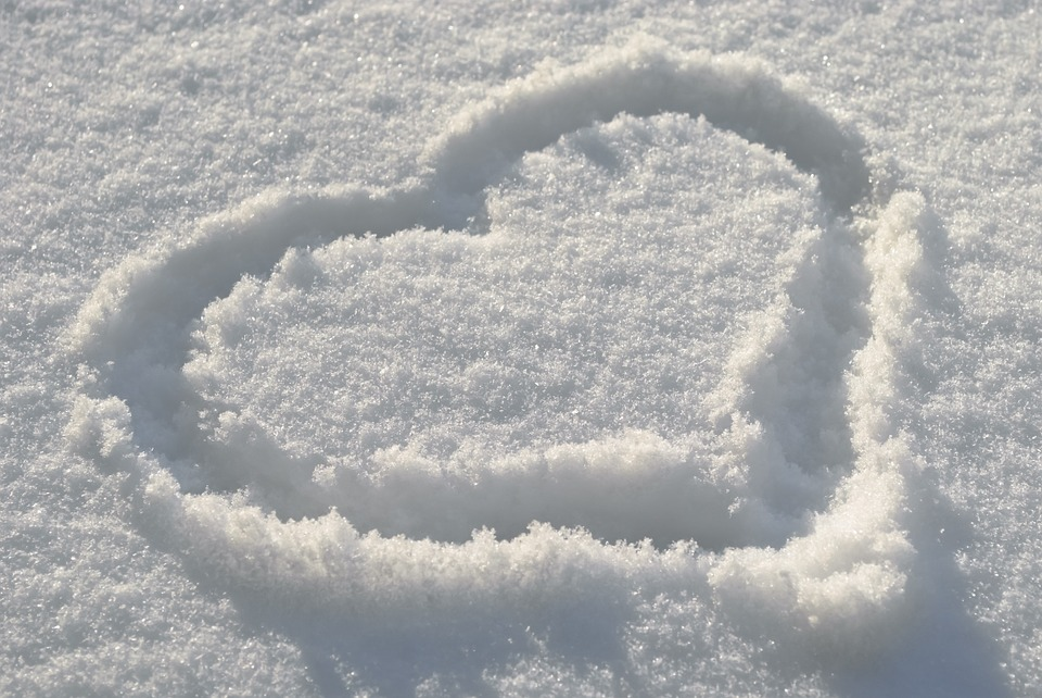 Winter, Snow, Heart