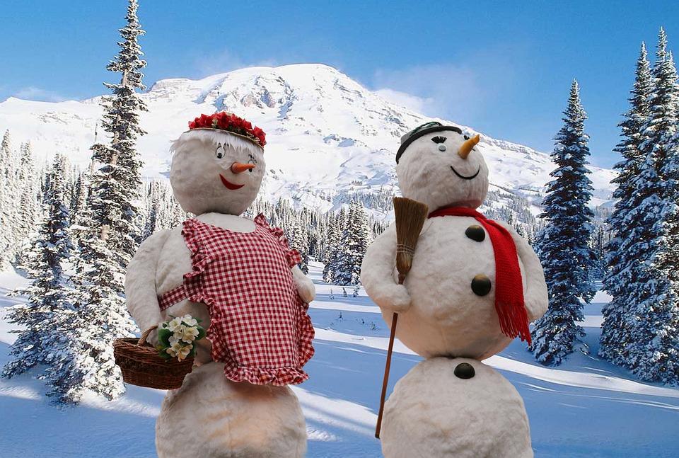 Snowmen, Winter, Snow, Wintry, Winter Forest