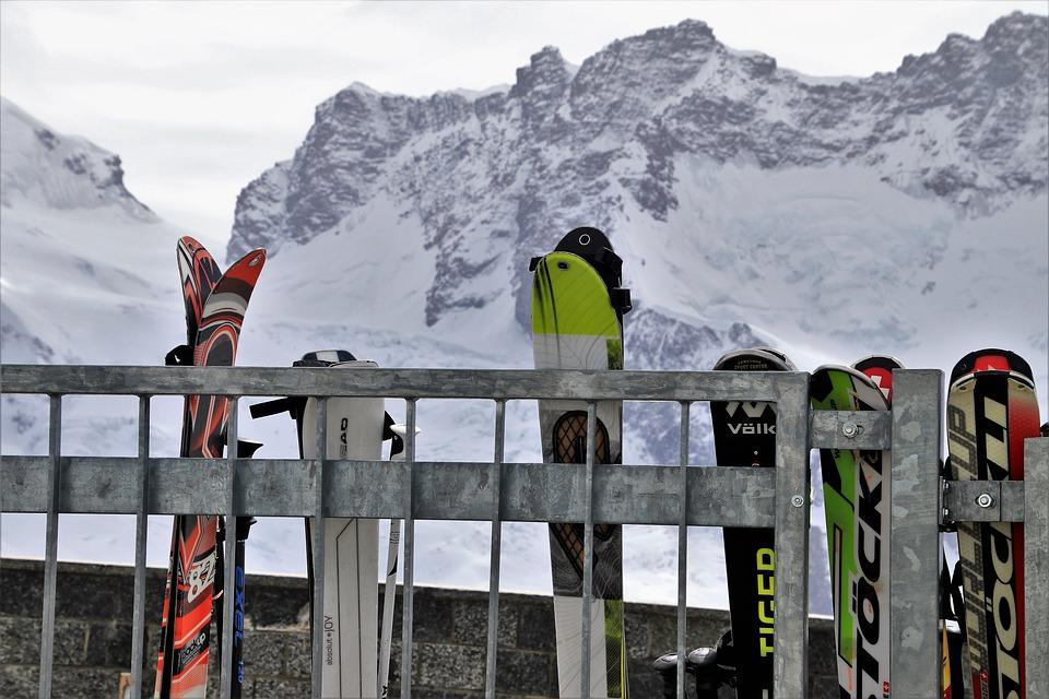 The Alps, Zermatt, Skis, Tops, Snow, Winter, Mountain