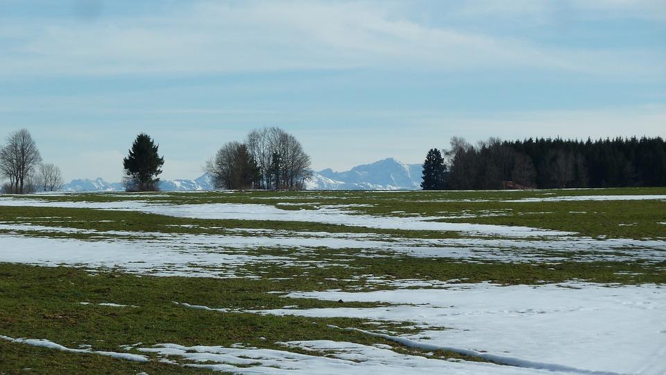 Allgäu, Winter Ade, Zugspitze, Panorama, Snow