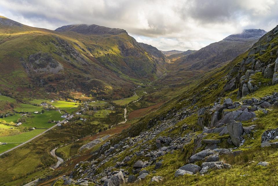 Snowdonia, Llanberis, Mountain, Autumn, Valley