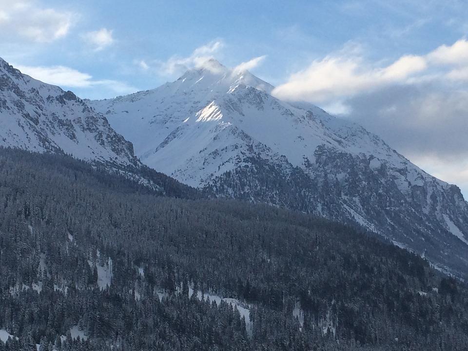 Switzerland, Alpine, Graubünden, Mountains, Snowfall