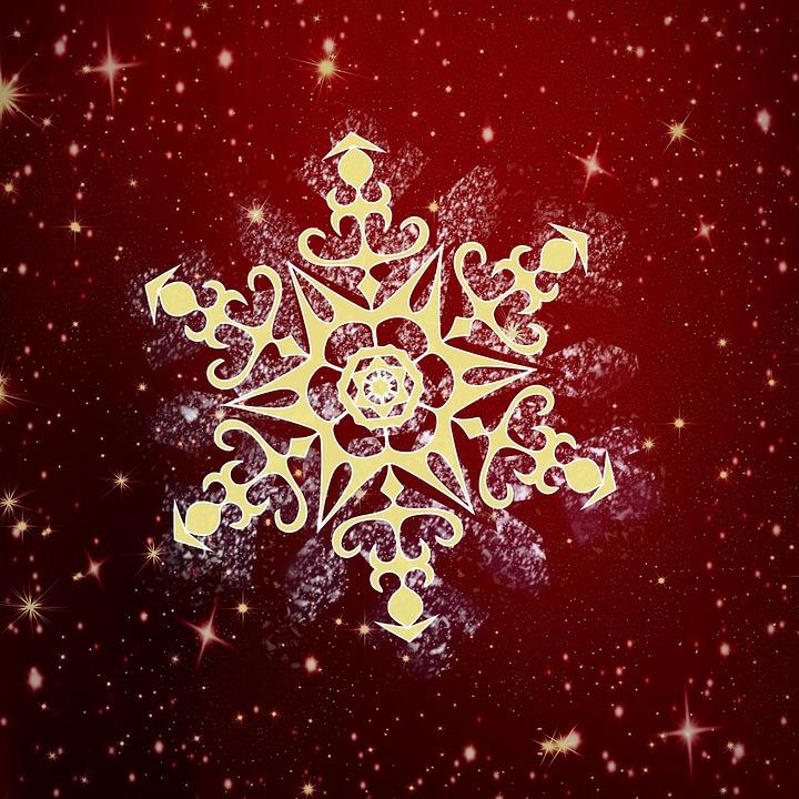 Snowflake, Background, Christmas, Winter Background