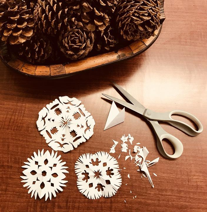 Christmas, New Year, Snowflakes, Paper Snowflakes