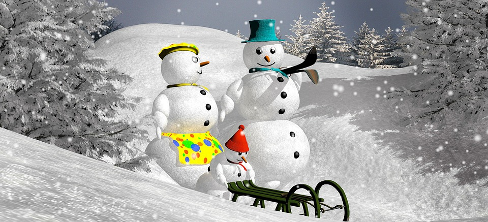 Snowman, Christmas, Snow, Frost, New Year