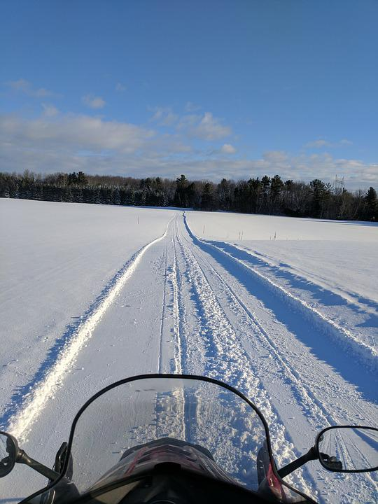Snowmobiling, Snowmobile, Sledding