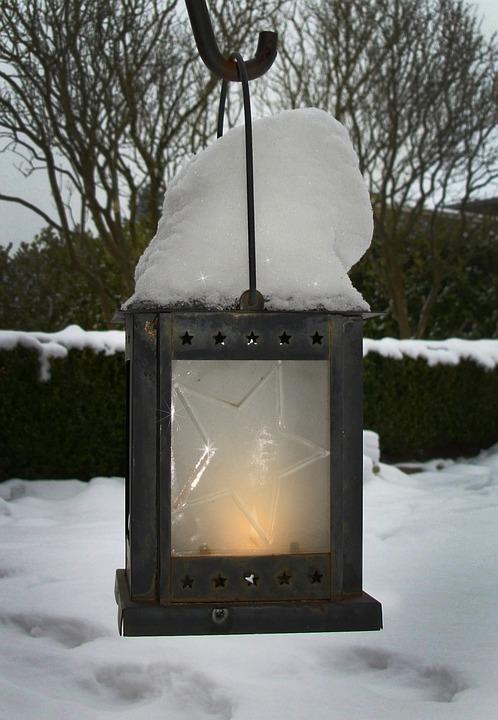 Winter, Snow, Lantern, Wintry, Snowy, Winter Cold