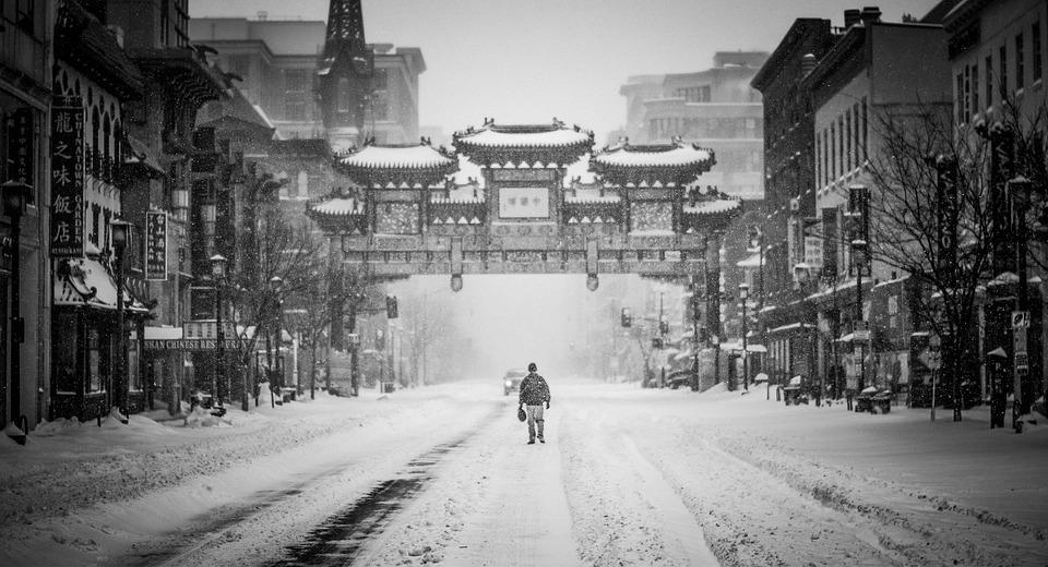 Snowzilla, Snow Storm, Single Male, Chinatown