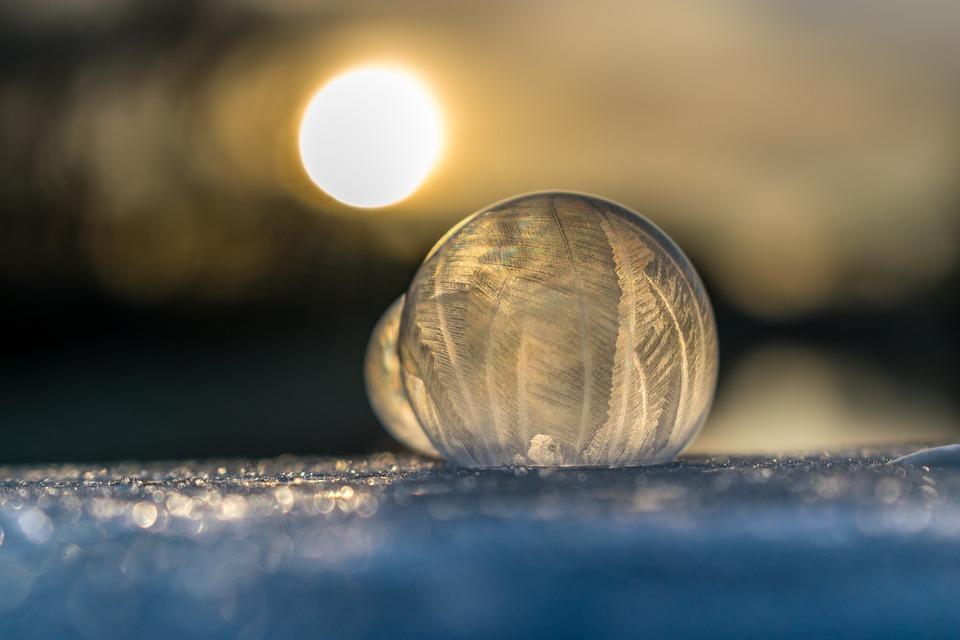 Soap Bubble, Ice, Cold, Winter, Frozen Bubble, Frozen