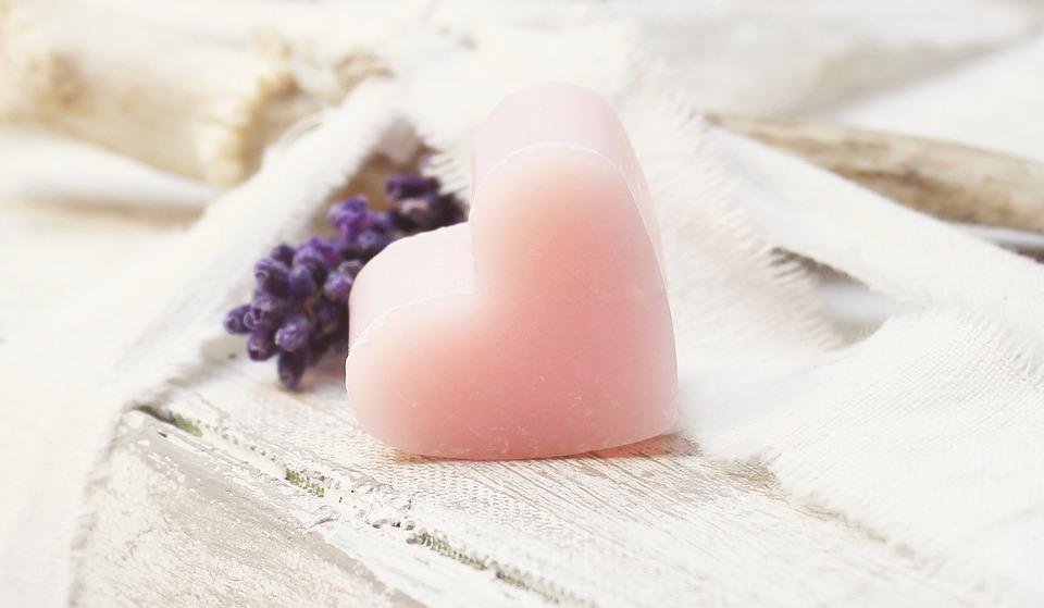 Lavender, Heart, Books, Pink, Heart Soap, Soap Heart