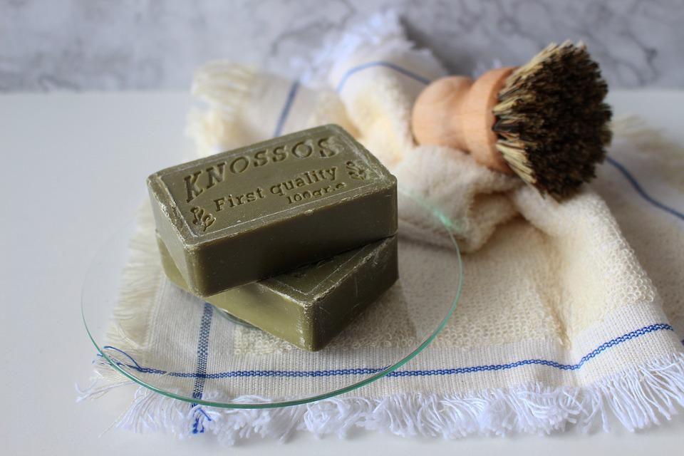 Soap, Bristle, Natural Brush, Rag, Clean Up, Cosmetics