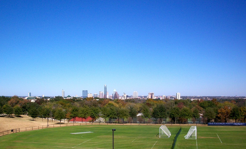 Soccer Field, Austin, Texas, Skyline, Sports