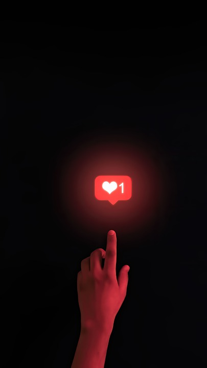 Like, Heart, Hand, Social Media, Network, Social