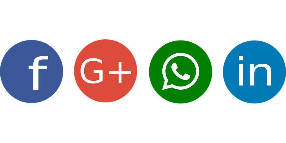 Social, Facebook, Google Plus, Whatsapp, Linkedin