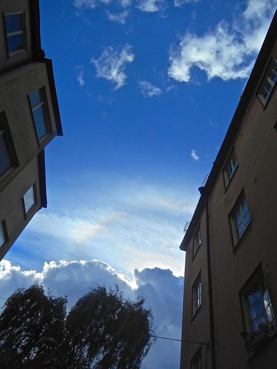 Facade, Blue Sky, Cloud, Södermalm, Stockholm