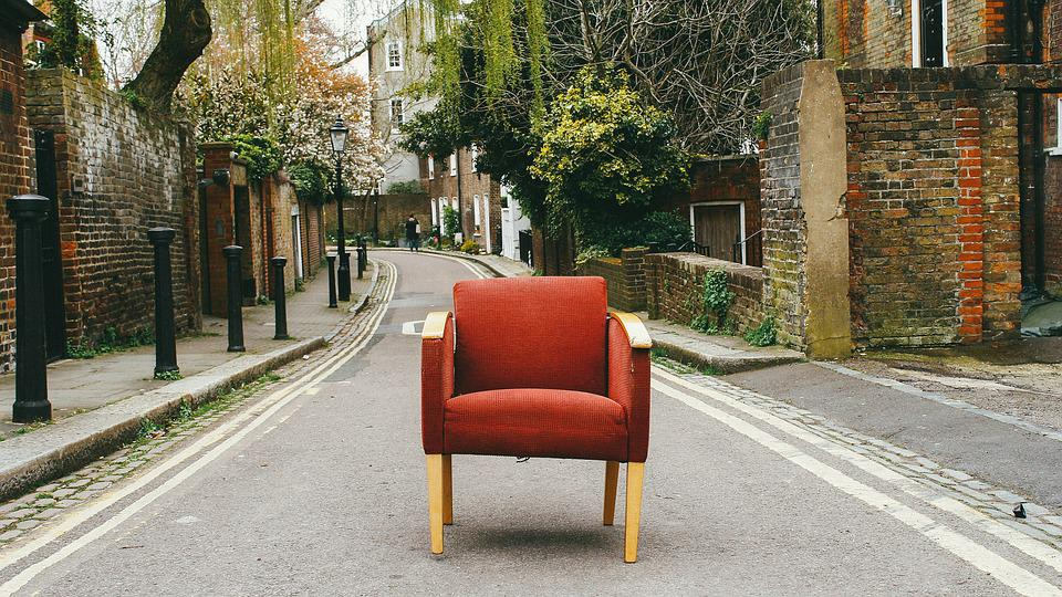 Chair, Couch, Furniture, Road, Sofa, Street