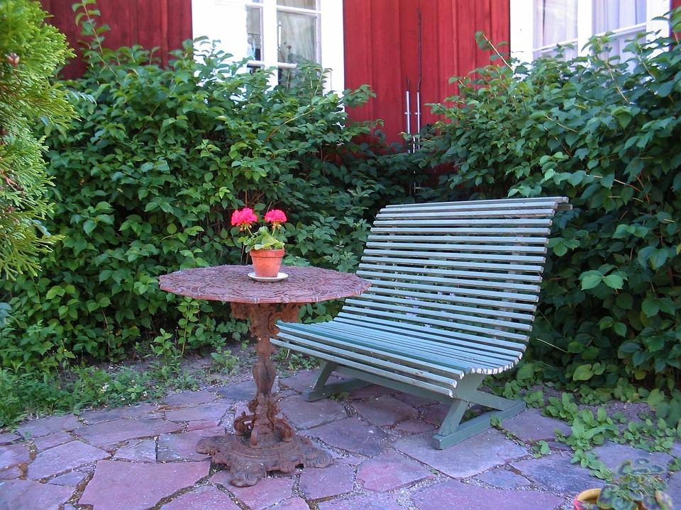 The Valleys, Garden, Table, Sofa, Flowers, Plants