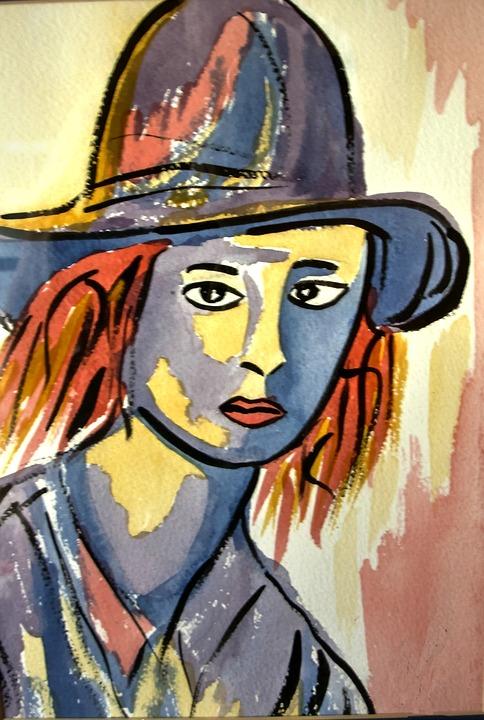 Water Color Portrait, Paper, Soft Brush, Creative